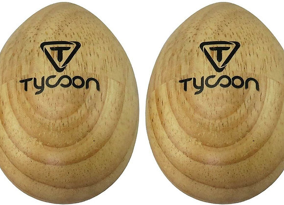 Tycoon Percussion TE-WS Professional Wooden Egg Shaker, Pair