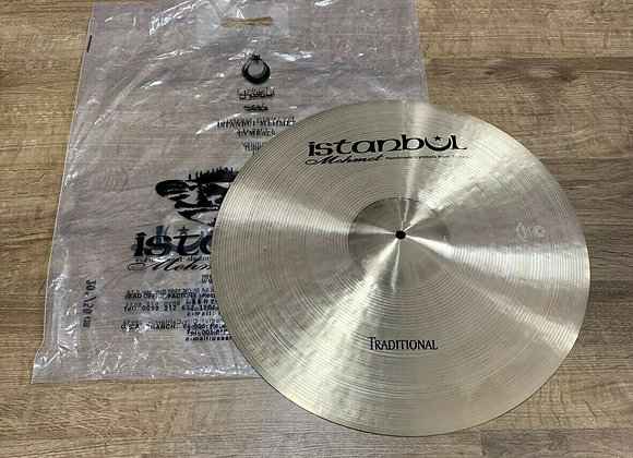 """Istanbul Mehmet Traditional Ride Cymbal 20"""" HARDLY USED #335"""