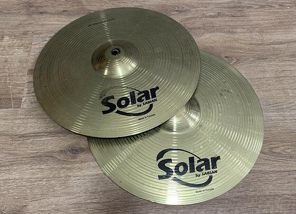 """14"""" Sabian Solar Hi Hat Cymbals #412"""
