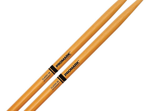 Promark Classic 5B ActiveGrip Clear Drumsticks