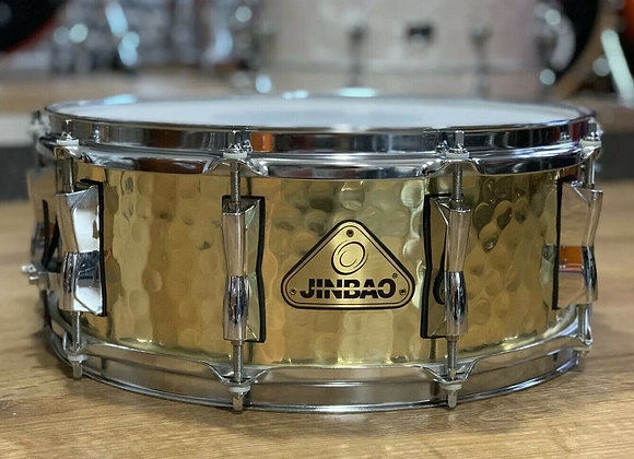 "14"" Jinbao Snare Drum Hammered Metal Shell Snare #338"