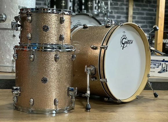 """Gretsch Catalina Club Drum Kit Champagne Sparkle 20"""" Bass Drum With Cases #390"""