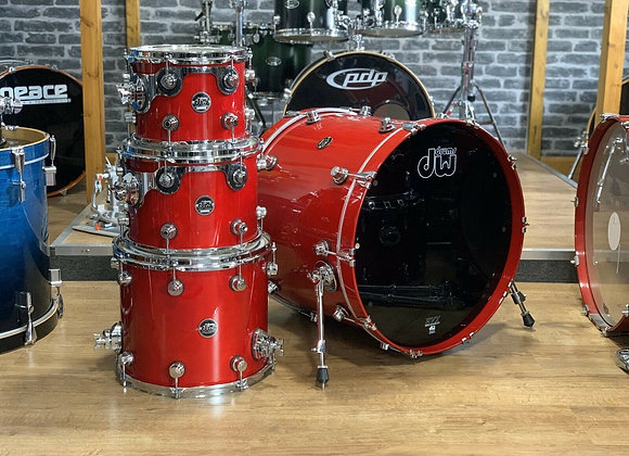 DW Performance Series Shell Pack Drum Kit Candy Apple Red #334