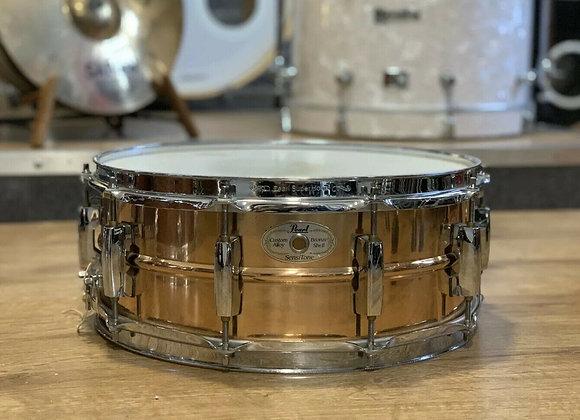 """Pearl Sensitone Custom Alloy Bronze Shell 14"""" X 5.5"""" Snare Drum #351"""