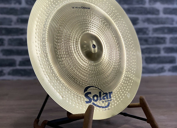 "18"" Sabian Solar China Chinese Cymbal #412"