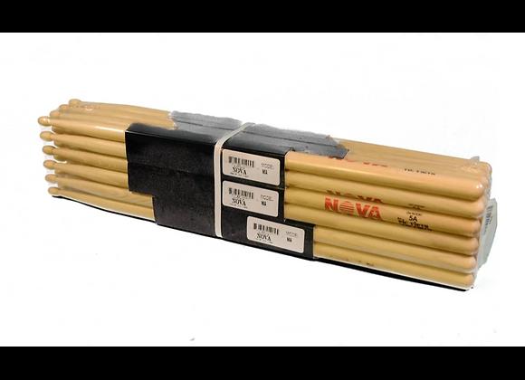 Brick 12 Pairs Of Vic Firth Nova Drumsticks 5A Wood Tip