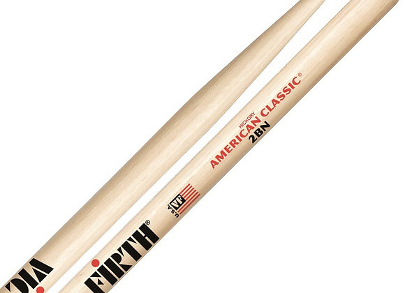 Vic Firth American Classic 2BN Nylon Tip Hickory Drumsticks
