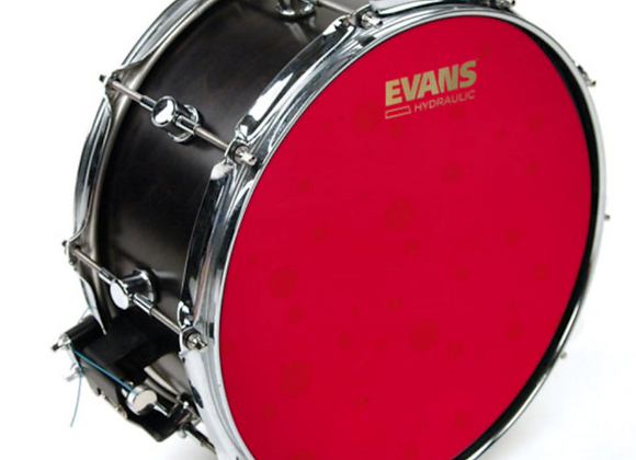 Evans Hydraulic Red Coated Snare Drum Batter 14""