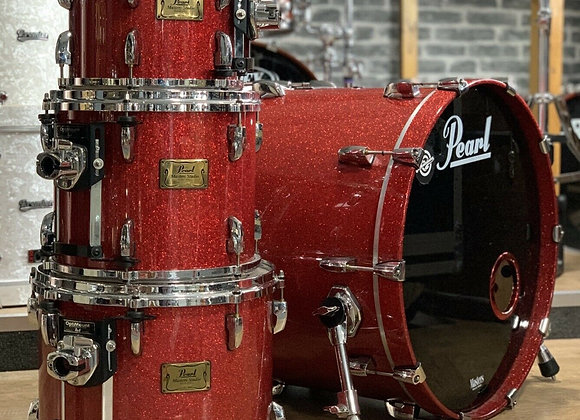 Pearl Masters Studio Red Sparkle Drum Kit Shell Pack With Cases! #428