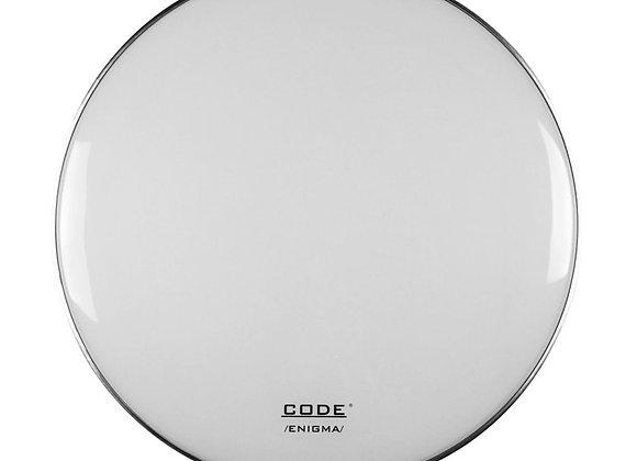 "CODE Enigma White 22"" Bass Drum Head"