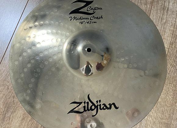 "Zildjian 18"" Z Custom Medium Crash Cymbal #412"