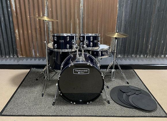 Mapex Tornado Drum Kit Black Blue Complete Setup #427