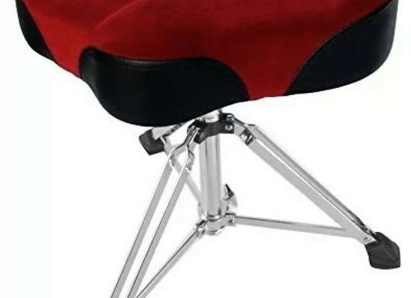 Custom Percussion Drum Throne - Red Motorcycle Top Saddle Swivel Base