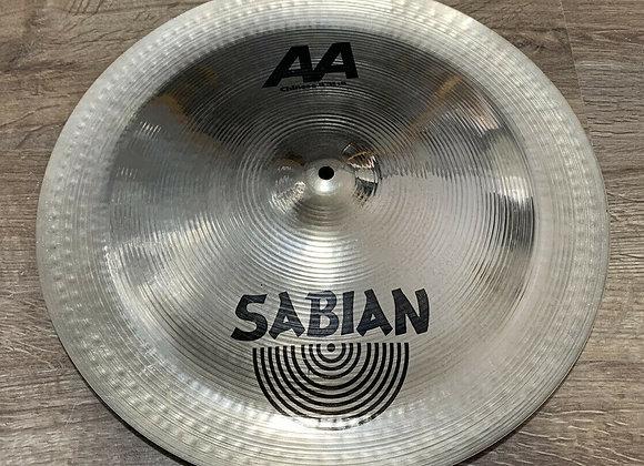 """Sabian AA Chinese Cymbal China Type 18"""" #404"""