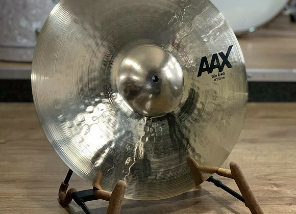 """Sabian AAX Thin Crash Cymbal 17"""" New Logo EX DISPLAY #380"""