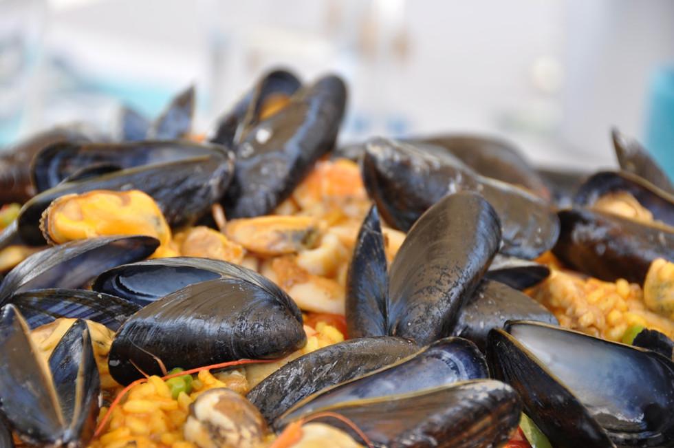 Paella do marisco