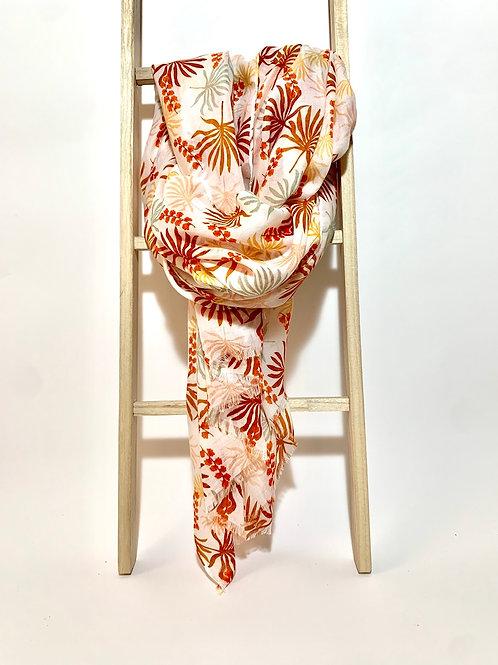 Foulard feuilles palmier