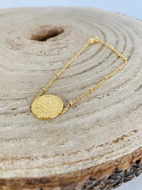 bracelet acier bijoux femme doré