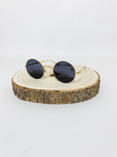 lunettes ronde festival mixte homme femme dorée vert foncé