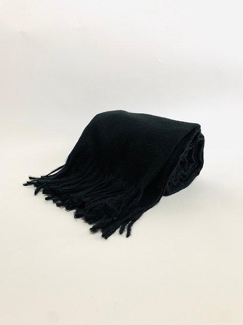 Écharpe femme uni noir hiver
