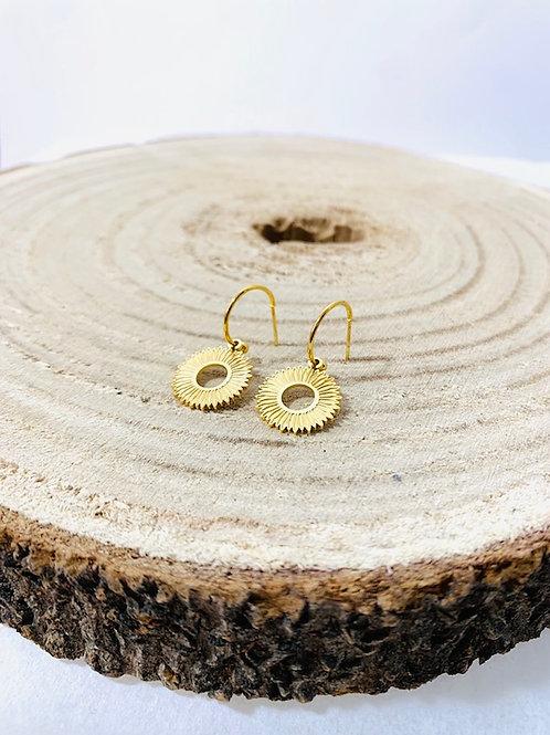 boucles d'oreilles soleil acier inoxydable bijoux eldorada