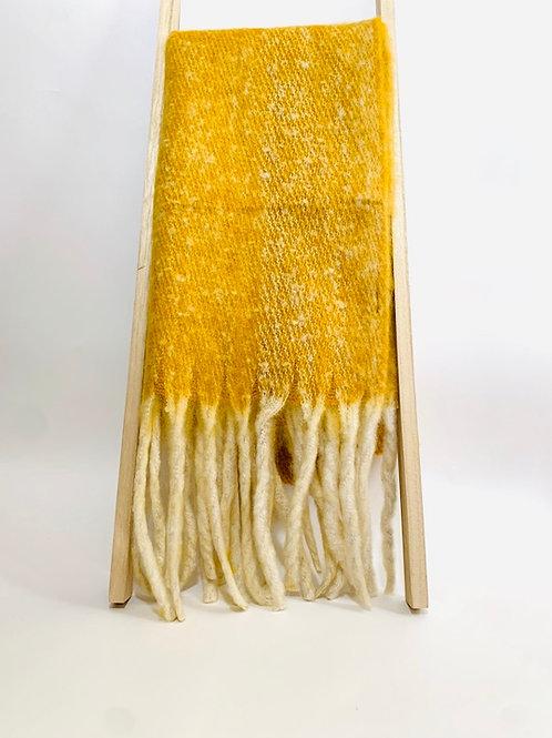 Écharpe  jaune femme hiver