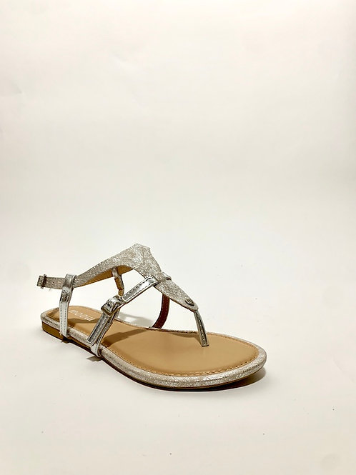 sandales argentée nu pied chaussures eldorada femme