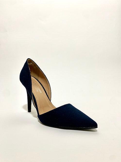 escarpins talons aiguilles bleu marine chaussures femme eldorada