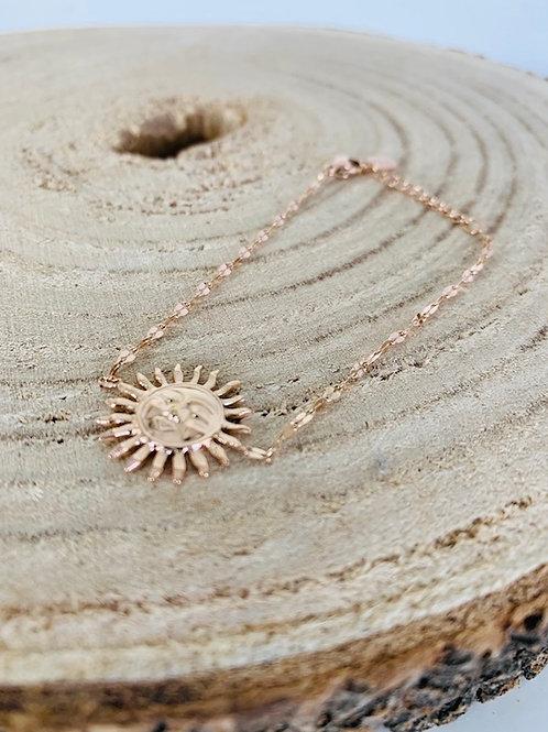 bracelet soleil acier bijoux femme gold rose