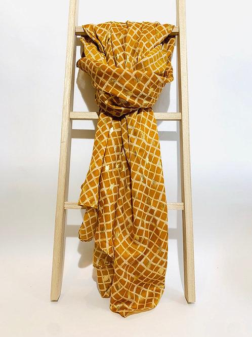 foulard femme motifs dorés automne hiver