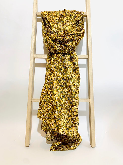 foulard femme moutarde automne hiver 2020