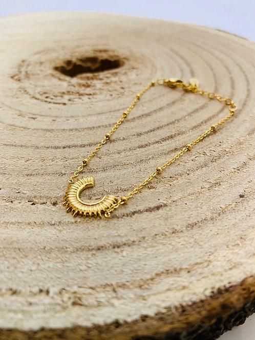 Bracelet acier doré bijoux