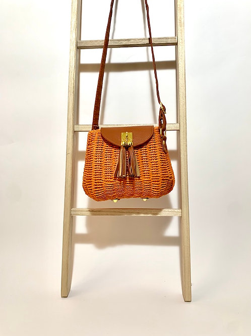 sac osier naturel pochette femme eldorada orange
