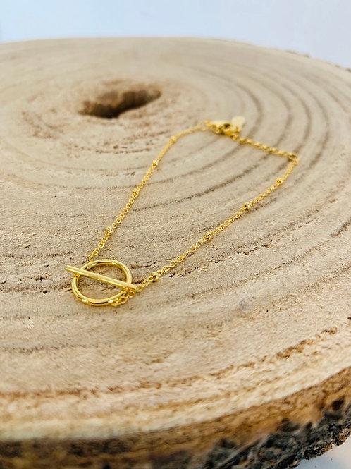 Bracelet acier femme doré or