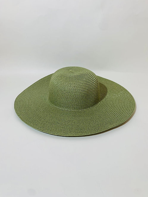 Chapeau capeline femme vert olive