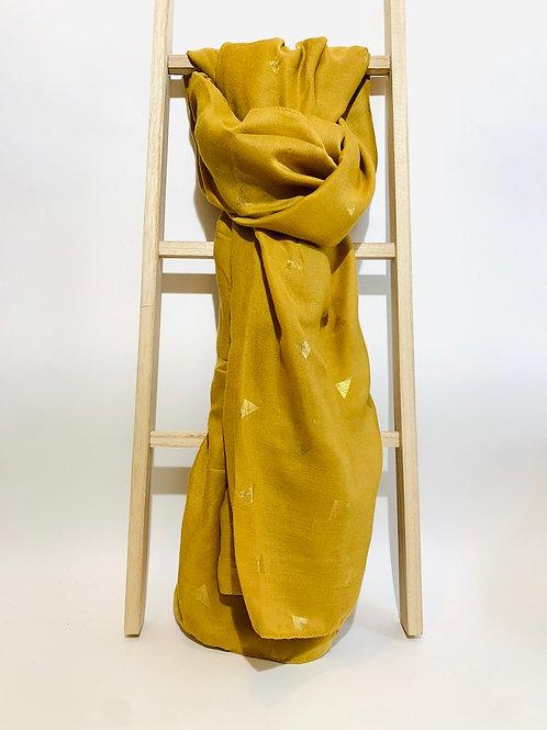 foulard femme moutarde automne hiver
