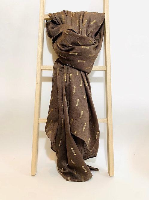 foulard femme marron