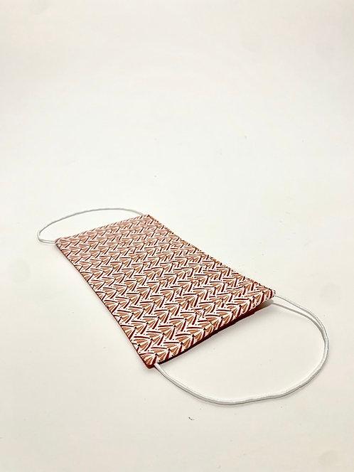 masques tissu coton lavable reversible rouge eldorada