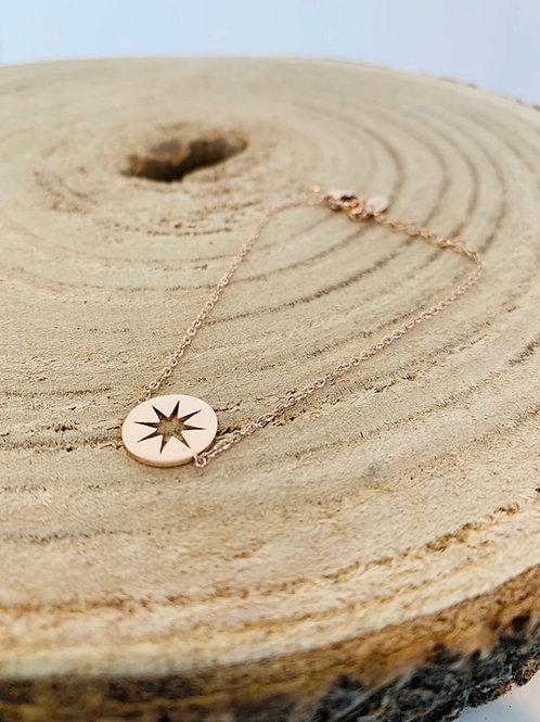 Bracelet acier femme gold rose bijoux blois