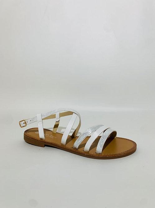 sandales blanche femme été