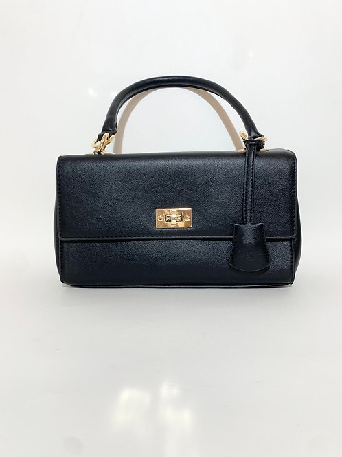 sac à main noir rectangle allongé femme