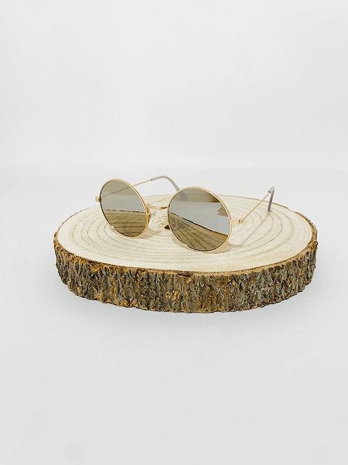 lunettes ronde festival mixte homme femme dorée