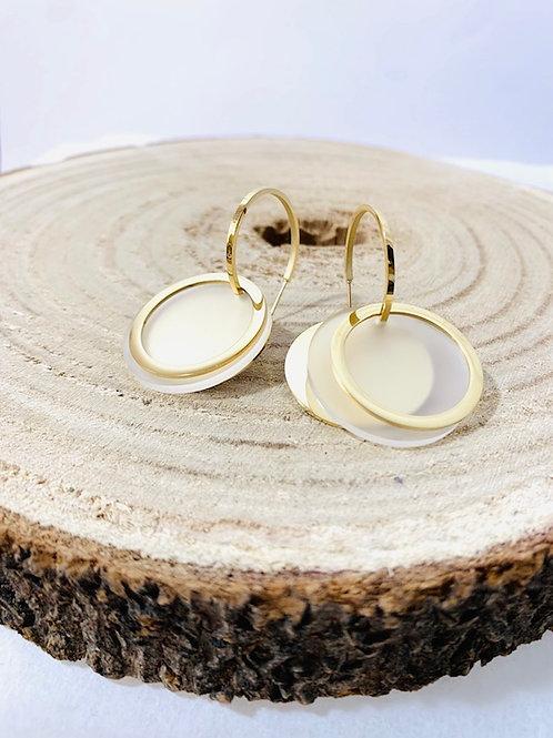 Boucles d'oreilles superposées acier inoxydable bijoux