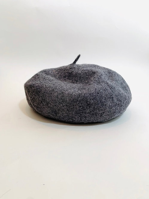 béret laine gris femme