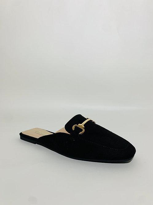 sandales claquettes femme noir