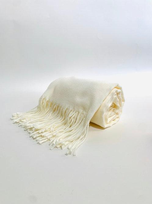 Écharpe femme uni crème hiver