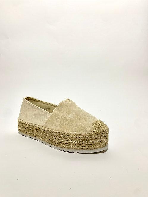 espadrilles compensées beige chaussures femme eldorada