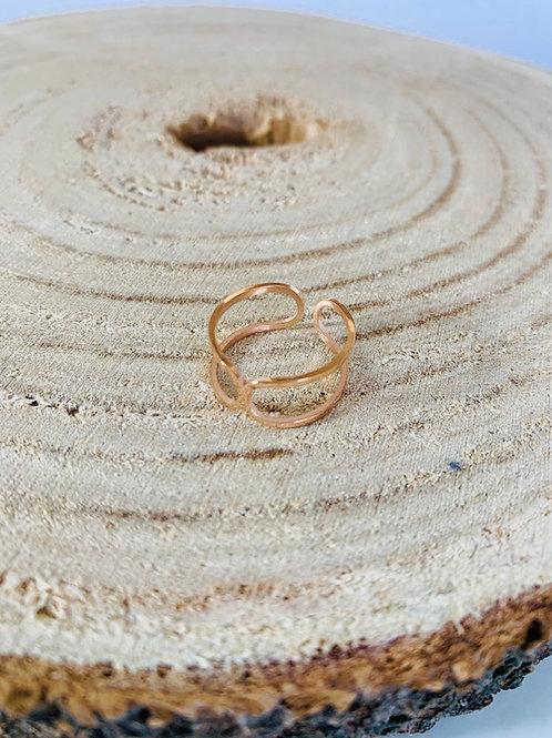 acier inoxydable bague rose bijoux