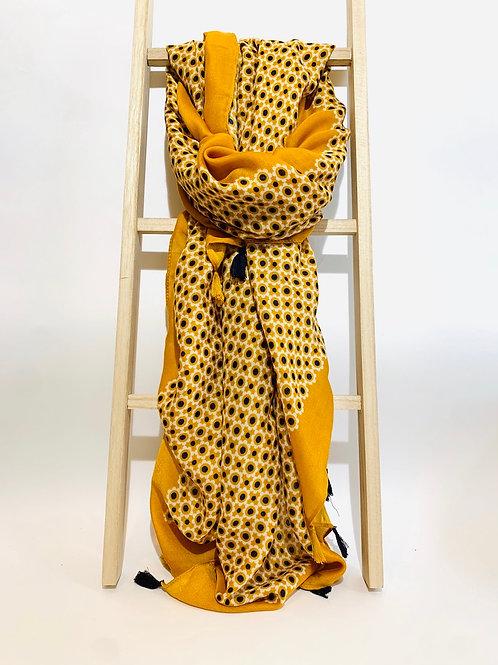 foulard moutarde femme automne hiver