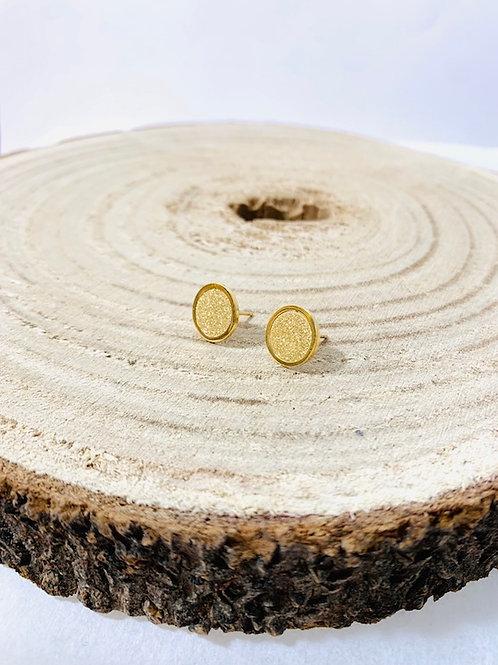 Boucles d'oreilles ronde acier bijoux blois